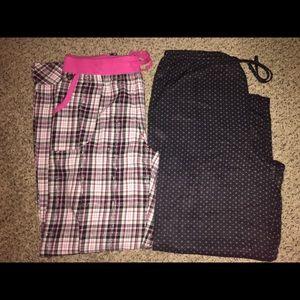 Pair Victoria's Secret Pajama PJ Pants Bottoms